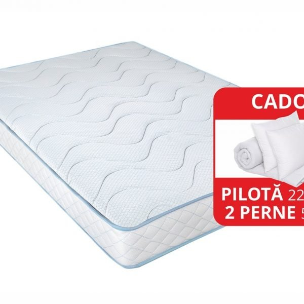 Saltea Memory Argentum Therapy PLUS 140x200cm Arctic Gel Super Ortopedica
