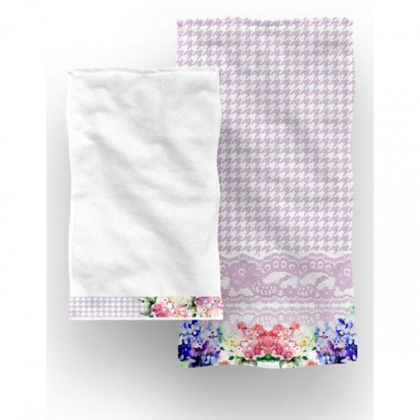 Set 2 prosoape baie Bouquet Aglika 50x100cm/50x30cm multicolor