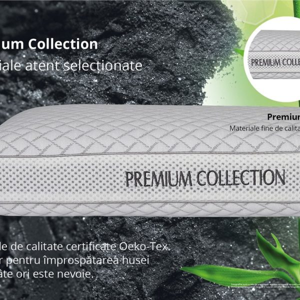 Perna Green Future Carbune Bambus Memory 40x60cm