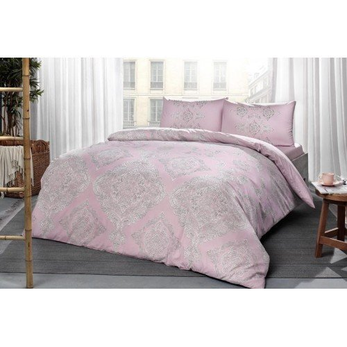 Lenjerie king size Mirabel roz 100% bumbac ranforce TAC