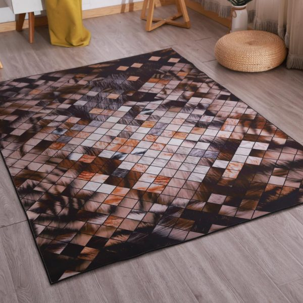 Covor Heinner cu print digital 3D 70x140cm PATCH