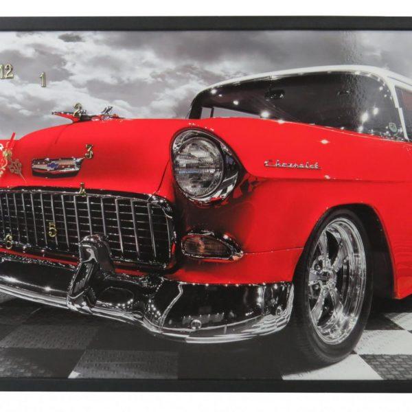 Tablou cu ceas inramat Heinner 50x100cm Red Chevy