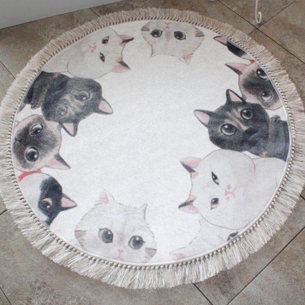 Covoras de baie 90cm Chilai Angry Cats