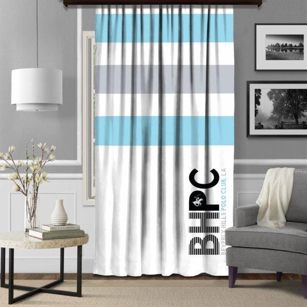 Draperie Beverly Hills Polo Club 140x260cm Blue/Grey/White