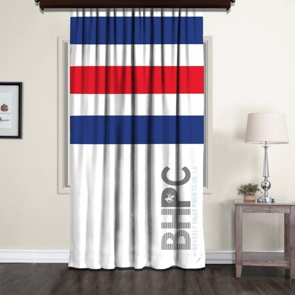 Draperie Beverly Hills Polo Club 140x260cm Blue/Red/White