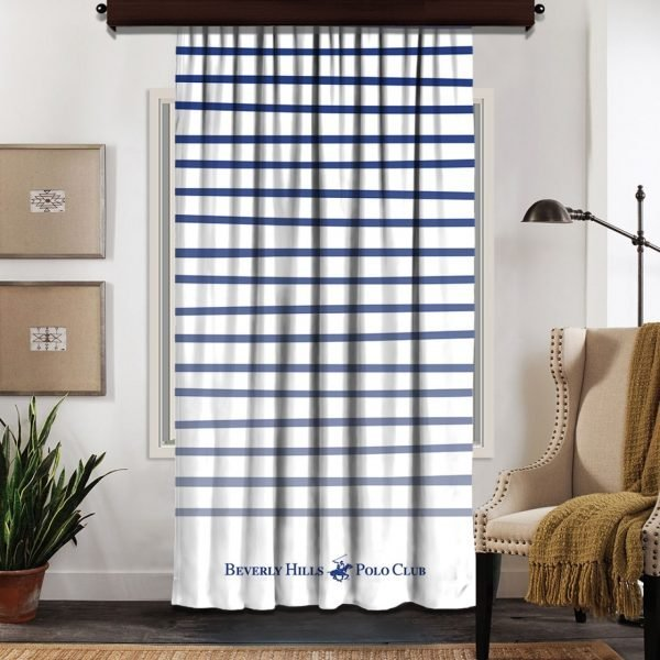 Draperie Beverly Hills Polo Club Crt 06-2 140x260cm White/Blue