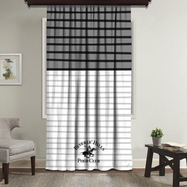 Draperie Beverly Hills Polo Club 140x260cm Grey/Black/White