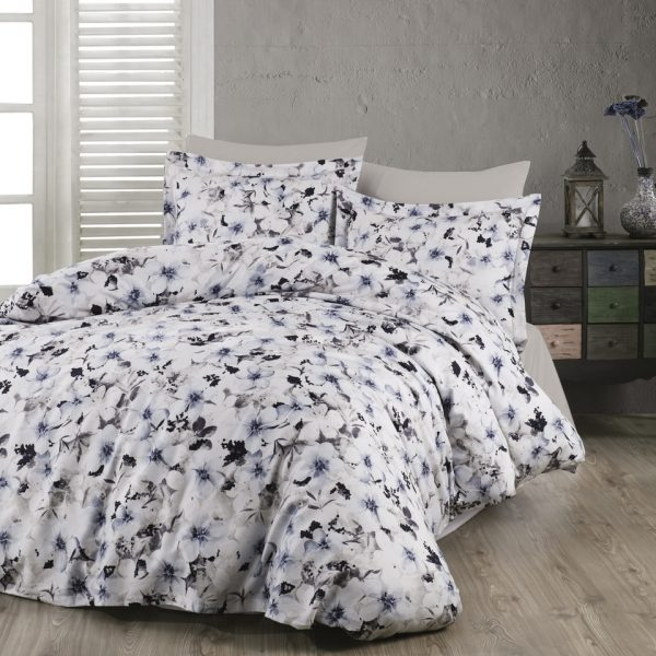 Lenjerie King Size 6 piese bumbac satinat Majoli Home Collection Viola V1