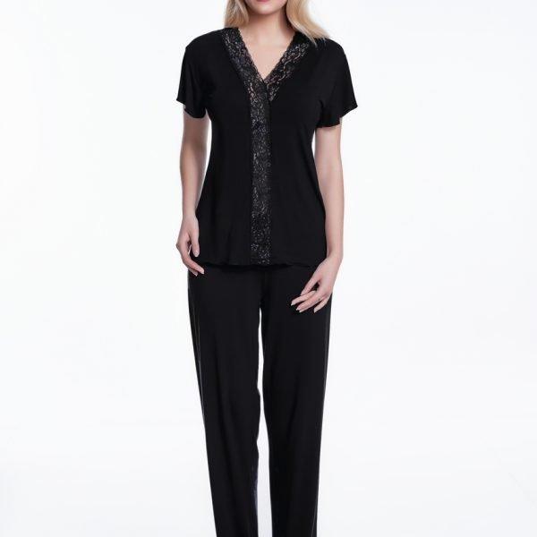 Pijama Luisa Moretti 100% bambus negru 38/40 M Negru