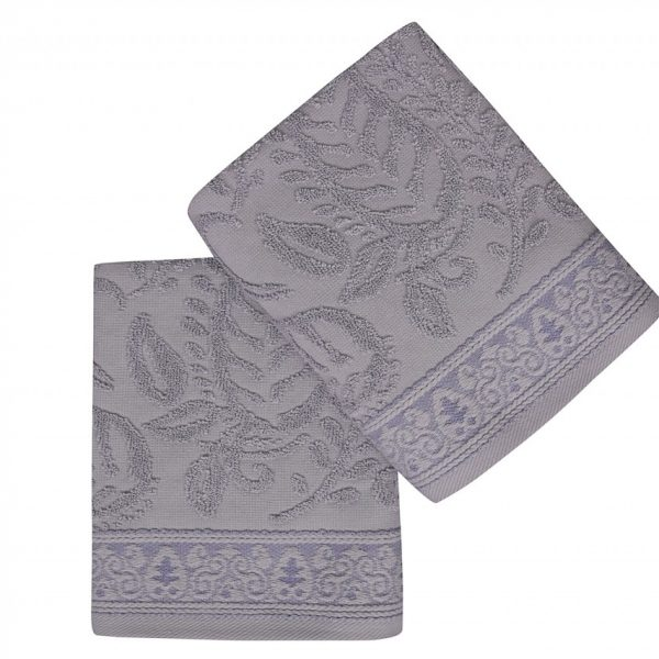 Set 2 prosoape de maini 50x90cm 100% bumbac Soft Kiss Noktalı Şal