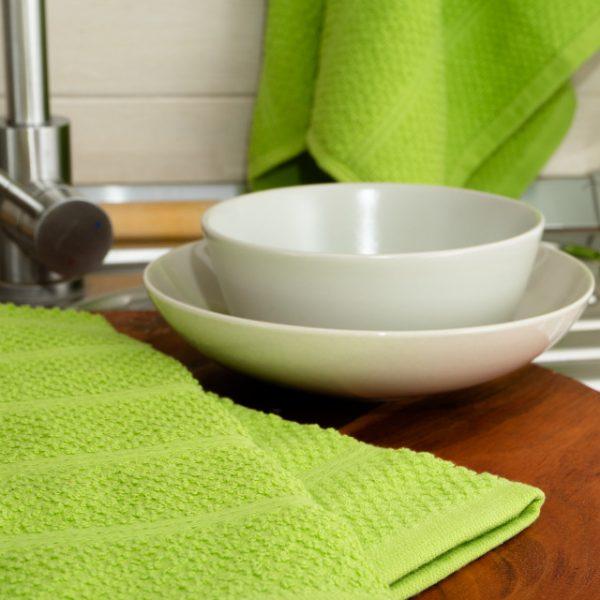 Prosop de bucătărie 100% bumbac 40x70cm 350gr/mp Verde